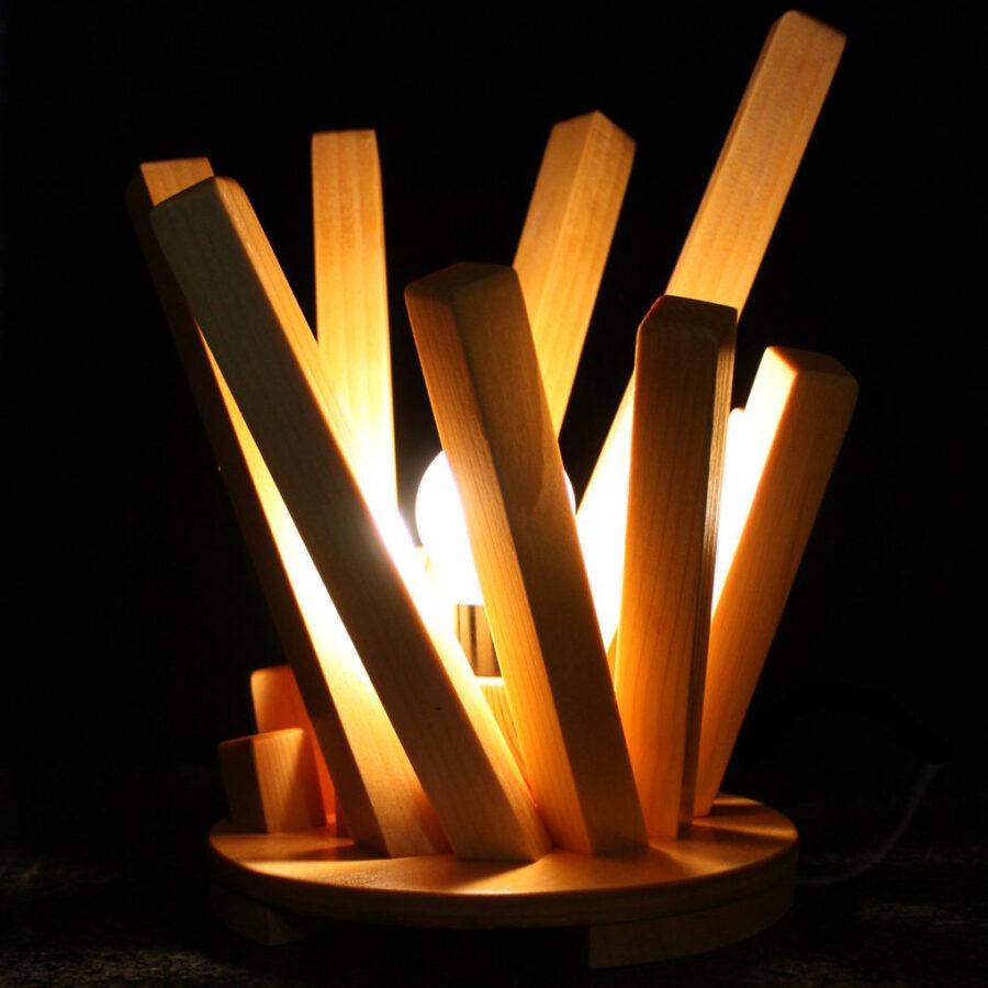 Table wood lamp